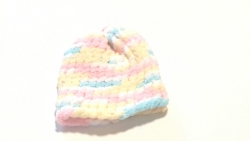 Multicolored Knitted Newborn Baby Hat