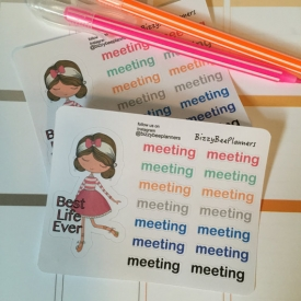 Best Life Ever Girl with meeting reminder JW Plannerstickers