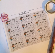 12 Daily Text Tracker Planner Stickers
