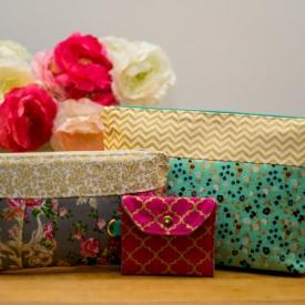Mix and Match Gift Set Bundle – Zipper Pouch, Wristlet, Transit / ID Card Holder