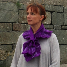 Atlantic Collection : Felt Ruffle Collar – 5 colours to choose from