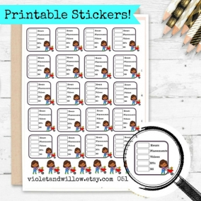 PRINTABLE Field Service Tracker Stickers, Service Planner Stickers, JW Planner Sticker