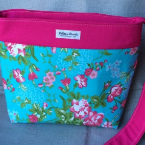 Crossbody purse, Hip bag, Flower print bag