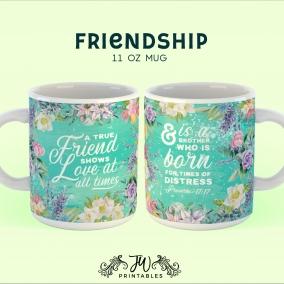 A True Friend Mug | Personalized JW Mug – Jw Gift – Pioneer Mug – Pioneer Gifts – Best Life Ever – JW Printables