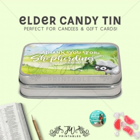 Elder & CO Candy Tins | JW Candy Gifts – Pioneer Gifts – Elder Gifts – JW Gift Bags – Baptism Gift Bags – Pioneer Sweets