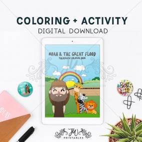 Noah & The Flood • JW Kids Coloring Book