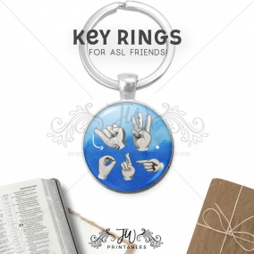 ASL JW Chain | JW Key Ring | American Sign Language – Asl gift Keychain – Best Life Ever – Pioneer School Gifts – Baptism Gifts