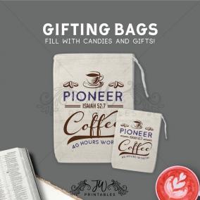 Pioneer Coffee Gift Bags | JW Candy Gift Bags – Pioneer Gift Bags – Elder Gift Bags – JW Gift Bags – Baptism Gift Bags – Pioneer Sweets