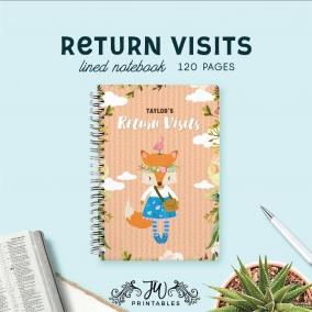 Return Visit Notebook | Feminine | Best Life Ever – Scripture Notebook – Pioneer Gifts – JW Gifts – JW Workbook – Ministry Notes