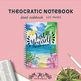 Look Ahead To a World That is New Notebook | Feminine | Best Life Ever – Scripture Notebook – Pioneer Gifts – JW Gifts – JW Workbook