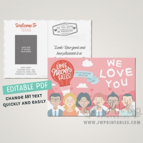 Love Never Fails International Convention Postcards • Personalized