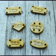 Wooden Tags- Set of 25