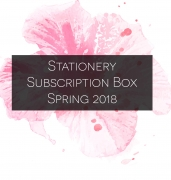 STANDARD Stationery Subscription Box – Spring 2018