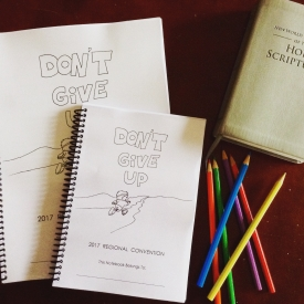 Don't Give Up Regional Convention Activity Notebook Instant PDF Download
