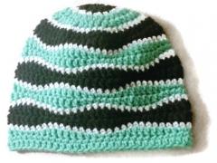 Adult Waves Crochet Beanie