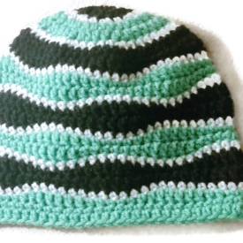 Adult Waves Crochet Beanie