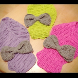 Purple Toddler Bow Scarf