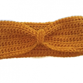 Mustard Yellow Crochet Headband Ear Warmer