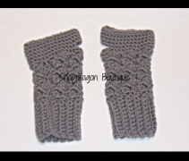 Gray Fingerless Gloves