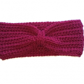 Raspberry Crochet Headband Ear Warmer