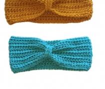 Aqua Crochet Headband Ear Warmer