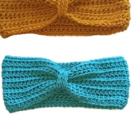 Aqua Crochet Headband Ear Warmer