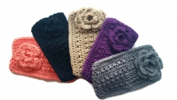 CORAL Crochet Headband Earwarmer