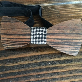 Bacote wood bowtie