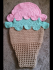 Crochet Ice Cream Scoop Blanket Sack