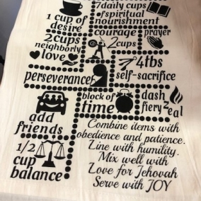 PIONEER RECIPE Tea Towel