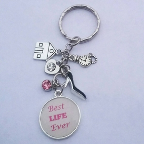 Best Life Ever Pioneer or Publisher Key Chain