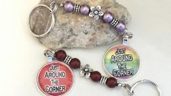"""Just Around the Corner"" keychain/bag accessory"