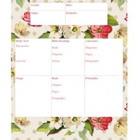 Jw Home School Lesson Plan Printable