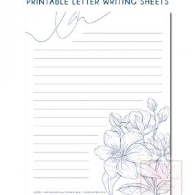 Printable Letter Writing Sheets Rev. 21:5