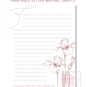 Printable Letter Writing Sheets Jer. 29:11