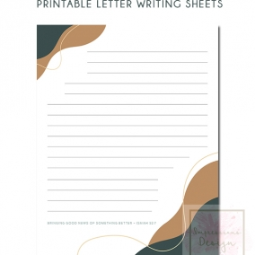 Printable Letter Writing Sheets