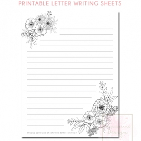 Printable Letter Writing Sheets Is. 52:7