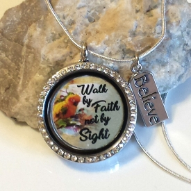 JW Bird Theme Locket With Charm