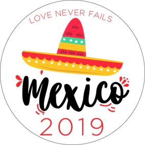 Love Never Fails – Mexico Stickers