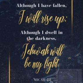 Micah 7:8 Digital Download Print