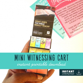 Mini Public Witnessing Cart – JW Game/Gift