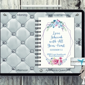 Hyperlinks – Digital Notebook PDF flower 2019/20 Love Jehovah With All Your Heart- Branch Rep. with *FREE Download*