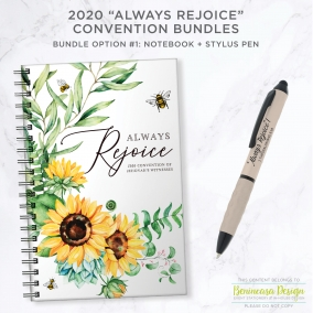 """Notebook + Pen Bundle – 2020 """"Always Rejoice""""! Convention of Jehovah's Witnesses"""