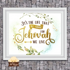 Jw song 81/The Life of a Pioneer/Home Decor/ Digital Download/ Wall decor/Gift