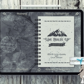 "Hyperlinks – Digital Notebook PDF Regular 2019/20 ""Love Builds Up"" With CO with *FREE Download*"