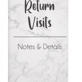 NEW Return Visit Book