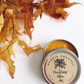 Pain Relief Organic Salve by Happie Coconut, Arthritis relief, Sports Injury salve