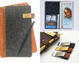 JW Tract Folder with pen Holder, Handcrafted Felt JW Tract Holder