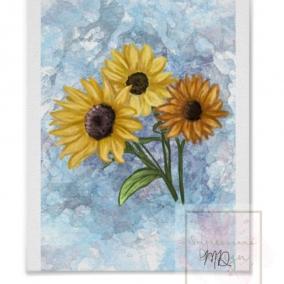 Sunflowers Digital Drawing Print