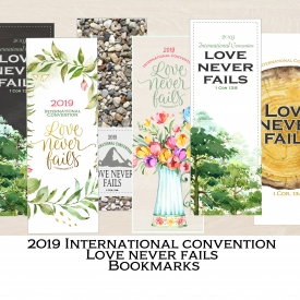 Jw International convention bookmark/ Love never fails/Jw gift/ Printable card/ Digital Download
